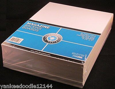 """100 New CSP Magazine 8 3/4x11 1/8 Poly RESEAL Bags+100 Backer Boards 8 1/2 x 11"""""""