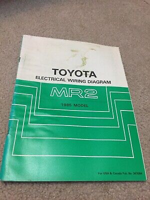 1985 toyota mr2 electrical wiring diagram manual schematic book 85