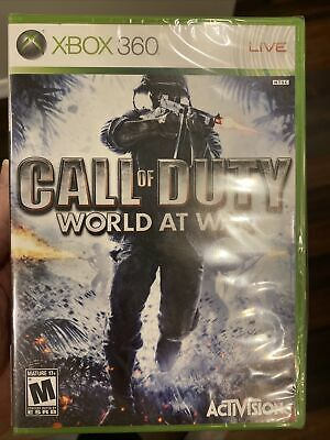 Sealed Call of Duty - World At War (Microsoft Xbox One + 360, 2008) W/G2 Case!!