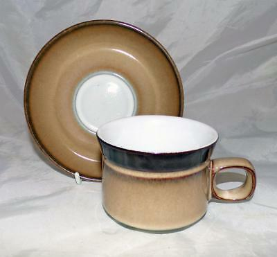 Denby Pottery Country Cuisine Pattern Cup and Saucer made in Stoneware