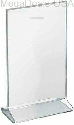 "Azar Displays 142714 7"" W x 11"" H Top-Load Acrylic Sign Holder 10-Pack - (C3)"