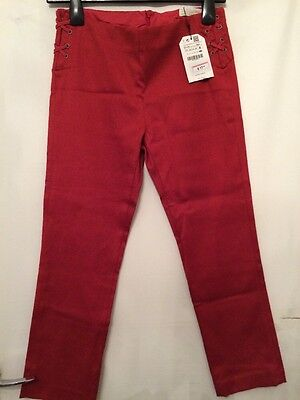Red/dark Orange Smart Zara girls Trousers Age 13-14