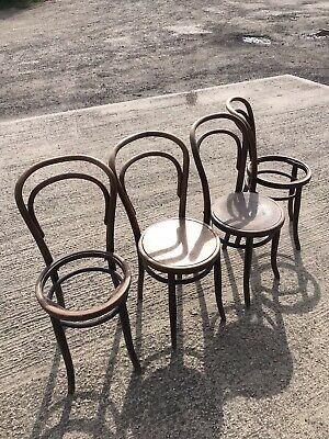 4 Bentwood Cafe Chiars French Thonet Style.