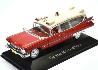 CADILLAC  SUPERIOR MILLER METEOR AMBULANCE 1959	7495002 Atlas 1:43 New in a box!