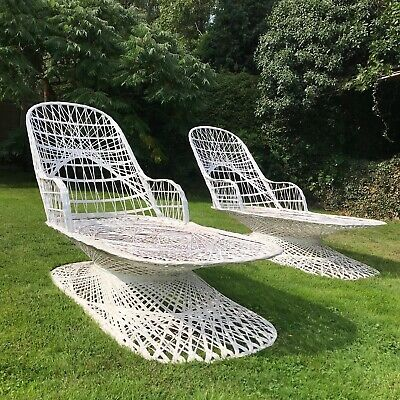 Rare Mid Century Garden Lounger by Russell Woodard 1960's, Hollywood style