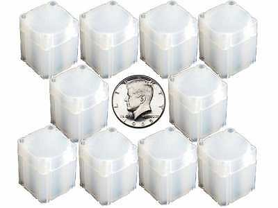 5 NUMIS Square Half Dollar 30.6mm Coin Tubes, Coin Storage