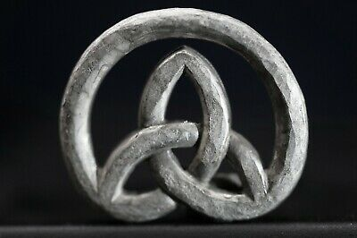 Ancient Celtic Silver Amulet. Pendant depicting Eternity Loop, circa 100-50 Bc.
