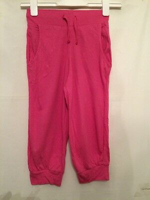 Girls Harem Trousers Age 7-8 Pink Loose Fit Trousers From H&m 3/4 Harem Pants