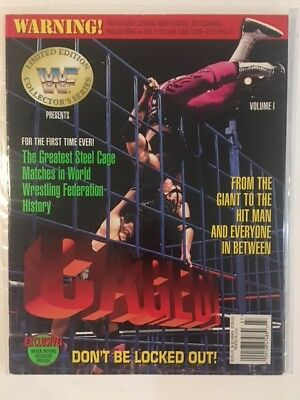 WWF Magazine 1994 Caged! Limited Edition Collector Series Bret Hart Volume 1 WWE