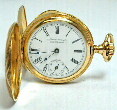 1896 Waltham Pocketwatch 15 Jewel Size-0 14K Gold Hunting Case 120+Y.old In Box!