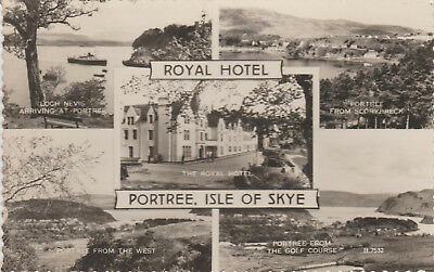 Portree -Isle Of Skye -Royal Hotel- Multiview- Real Photo  Postcard # 18089