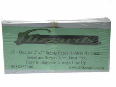 25 Cardboard/Mylar 2x2 Coin Holder Flips for Quarter 24.3mm, by Guardhouse
