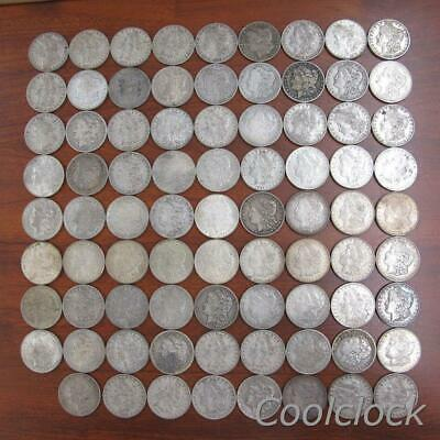 80 Pc Lot Morgan Silver One Dollar $1 Coins Old Used Circulated Ungraded #Y746