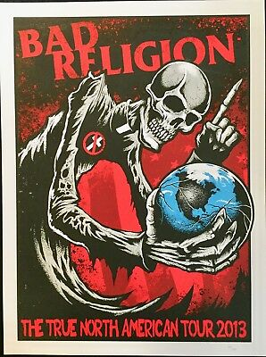 Bad Religion 1st Run Original Limited Edition Tour Poster 2013
