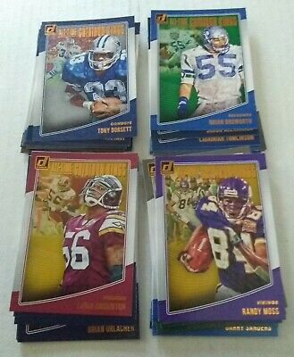2018 Donruss Football All Time Gridiron Kings Complete Set of 40