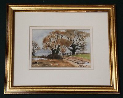 Beautiful original signed watercolour by James Trew 'Autumn on The Downs 2'