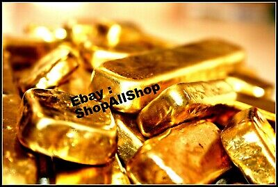 266 grams Scrap gold bar for Gold Recovery melted different computer pins coin