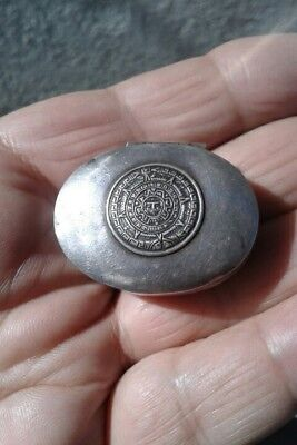 Vintage Solid Silver 925 Pill Box