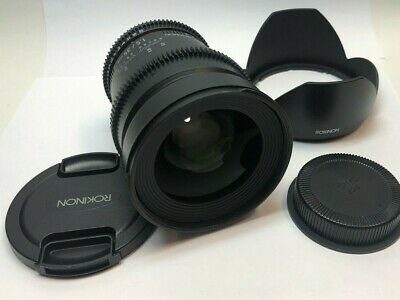 Rokinon 35mm T1.5 Cine AS UMC Lens for Canon EF Mount - Excellent