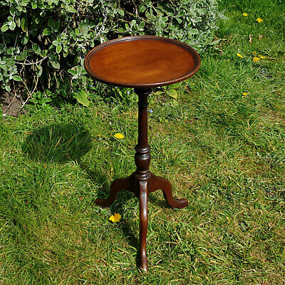 Regency Style Mahogany Dish Top Tripod Wine Table (Antique Reproduction)