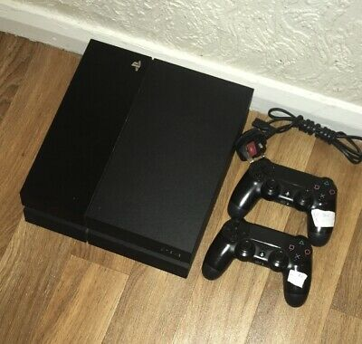PS4 Console 500GB Sony Playstation 4 CUH-1003A Black & 2 Controllers Faulty Disc