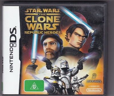 STAR WARS THE CLONE WARS REPUBLIC HEROES - NINTENDO DS game