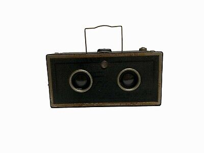 EHO ALTISSA Stereo Box Vintage Camera 120 Film Duplar f11/80mm Lenses 1919