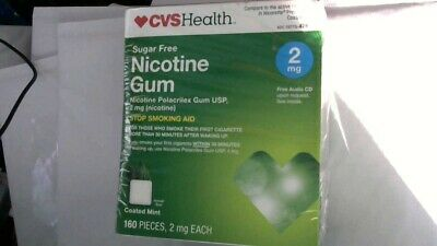 CVS Health Sugar Free Nicotine Gum 2 mg Coated Ice Mint 200 Pieces, Out-Of-Date