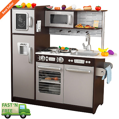 PRETEND KITCHEN PLAY Set 30 Piece Oven Refrigerator Kids Toy Oven Child  Learning
