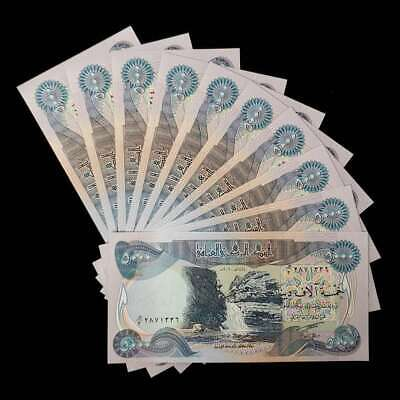 50,000 Iraqi Dinar (10) 5,000 Note Uncirculated!! Authentic! Iqd!