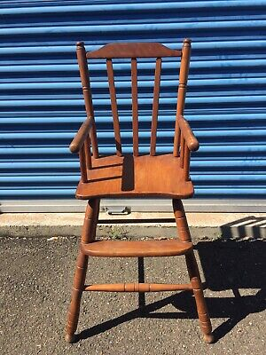 Antique Early American High Chair for Child Beautiful Wood Very Good Condition