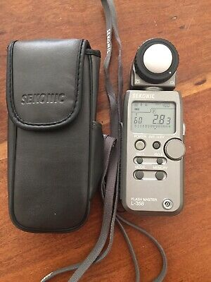 Sekonic L-358 Flash Master Light Meter With Case