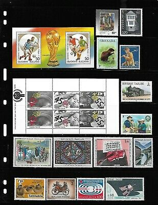 World, Collection lot of 100 MNH all different worldwide stamps see 4 scans #1