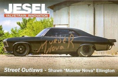 2018 MURDER NOVA SHAWN ELLINGTON signed STREET OUTLAWS PHOTO