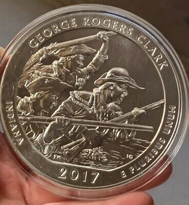 2017 5 OZ SILVER ATB GEORGE ROGERS CLARK NATIONAL PARK, Proof IN CAPSULE
