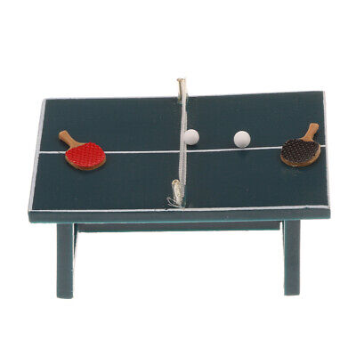 2cecaacdb Miniature Table Tennis Ping Pong Game Set 1 12 Scale Dollhouse Furniture Toy