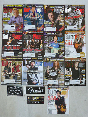 FULL YEAR lot of 13- 2016 GUITAR PLAYER Magazine and Holiday issue w/3 Sticker