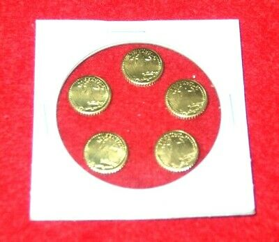 Lot of 5 - St Gaudens Mini Gold Coins 22kt