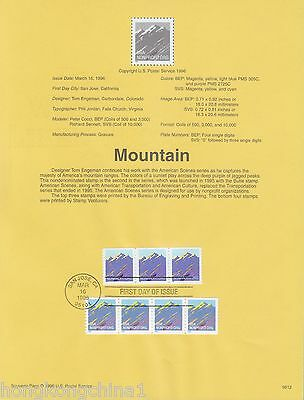 USA Stamp FDC: 1996 Moutain US138869
