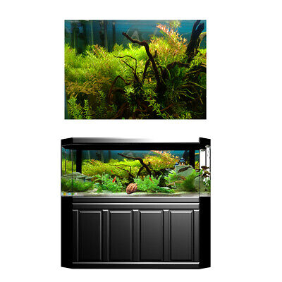 Aquarium Background Poster Fish Tank Static Cling Wallpaper Sticker Decor