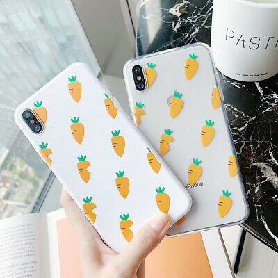 Carrot TPU Shockproof Phone Case Cover For iPhone X XS Max XR 6 7 8 Plus New
