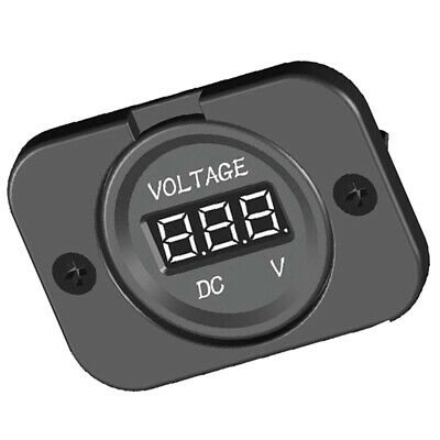 DC 12V-24V LED Rear Panel Digital Voltage Meter Display Voltmeter for Car