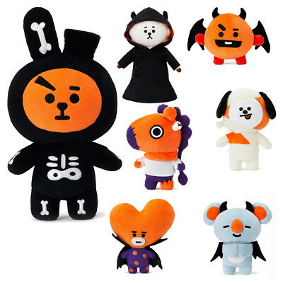 BTS Official BT21 Halloween Plush Doll Mang Chimmy Tata Cooky RJ Authentic Gift