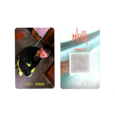 [STRAY KIDS]SKZ / Cle1 : MIROH Official Photocard/CLE 1:MIROH LOGO/CHANGBIN