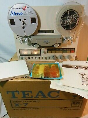 Vintage Teac X-7 Dual Capstan Reel to Reel Tape Recorder SERVICED Belts Manual