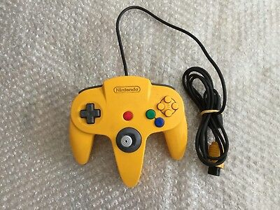 N64 Nintendo 64 Yellow Official Pal Controller