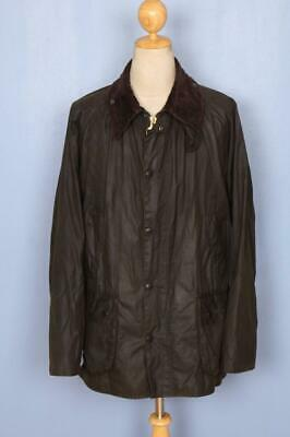 BARBOUR Classic Bedale WAXED Jacket Green Size 46