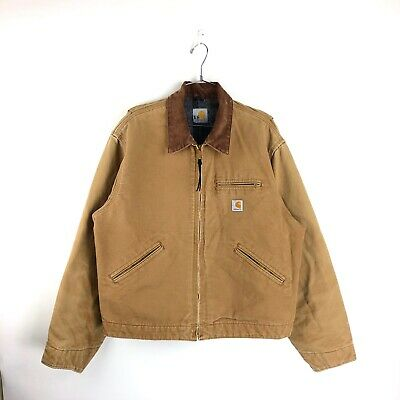 a25a235419 Vintage Carhartt Canvas Jacket Size XL Mens 90s Blanket Lined Duck Work Wear