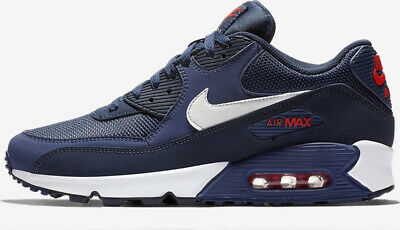 huge selection of 40ad6 6bb15 Nike Air Max 90 Essential AJ1285 403 Mens Trainers Navy Gym Running Shoes