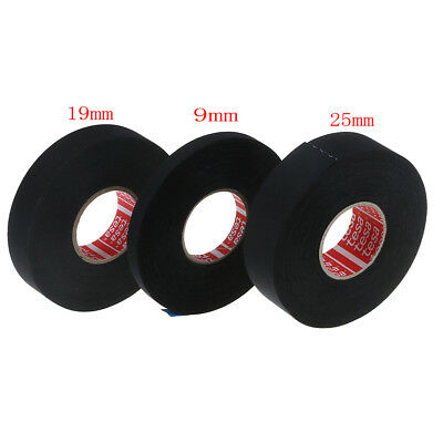 Tesa tape 51036 adhesive cloth fabric wiring loom harness 9mmx25m 19mmx25m 0c a!